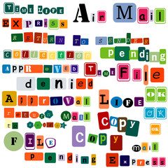 different letters design