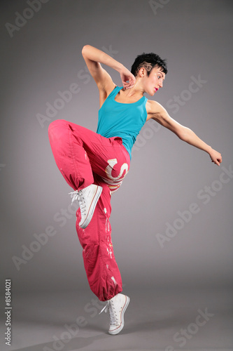 dancing woman in sportswear