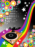 vector background with Dj turntable