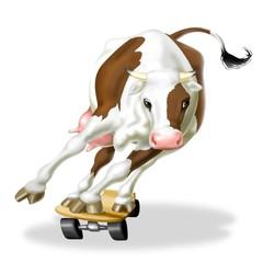 skating cow