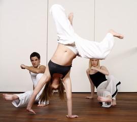 Students practicing Capoeira