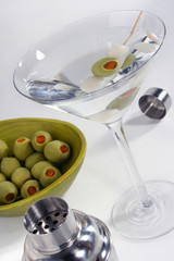 Shaken Martini and Garnishings