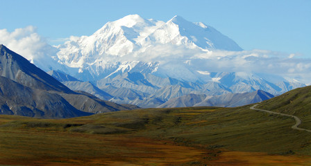 Long narrow road to Mt. McKinley