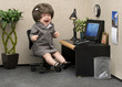 Leinwanddruck Bild - Office Babe