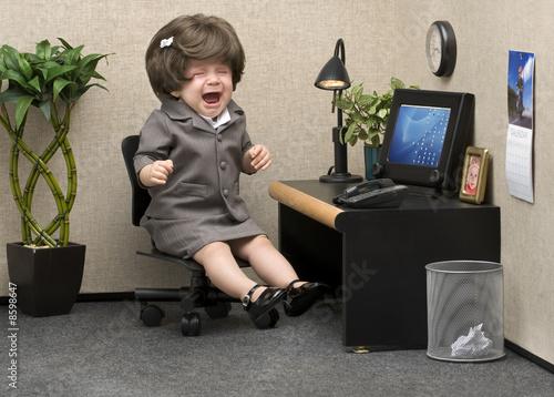 Leinwanddruck Bild Office Babe
