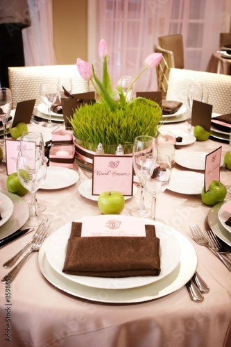 Poster Table setting at wedding reception
