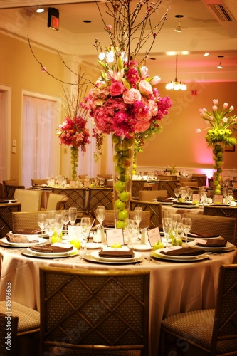 Poster Table setting at a luxury wedding reception