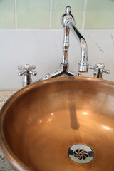 Copper bathroom sink