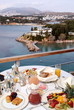 Breakfast table with view to sea