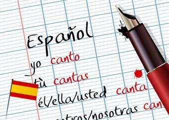 Cours d'espagnol (conjugaison)