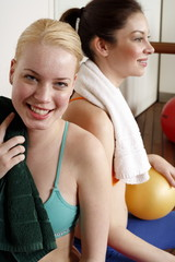 Two young women after a workout
