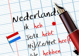 Fototapety Cours de néerlandais (conjugaison)