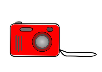Macchina fotografica rossa