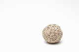 Rubber band ball on white background