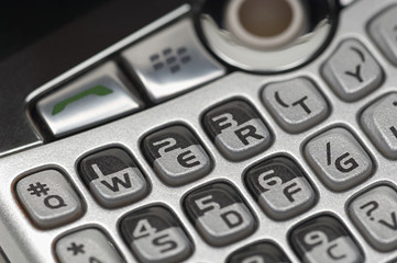 Keypad of PDA, close-up