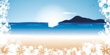 Fototapety hibiscus plage soleil