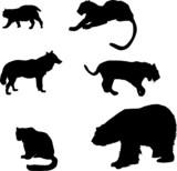 predator silhouettes set poster
