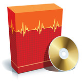 Box with medical software and CD poster