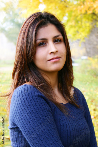 Young Latina Beauty Portrait Outdoors