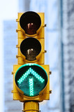Fototapety Green Arrow Stoplight