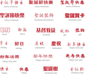 festival in chinese art writing with english translation
