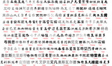 Fototapety vector chinese writing with english translation 1