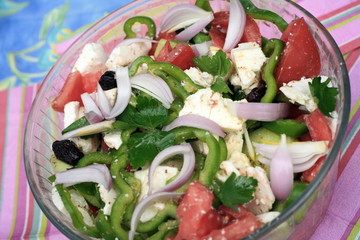 Bowl of Greek salad