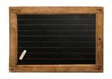 Old small school blackboard poster