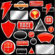 chrome graphic elements vector