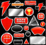 Fototapety chrome graphic elements vector