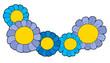 Detaily fotografie Pět modré květy