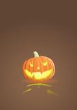 Vector illustration of an evil pumpkin poster
