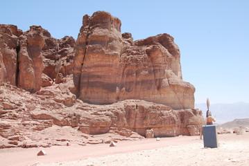 Sandstein Felsen in  Timna Park. Israel.