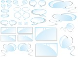Comic Clouds and stickers Collection poster