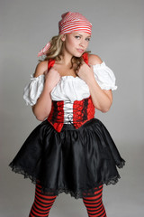 Girl in Pirate Costume