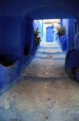 Doorway at end of alley