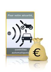 L'argent des contrôles automatiques (euro)