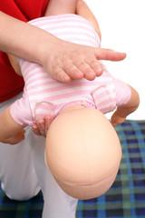 Infant suffocation rescue technique
