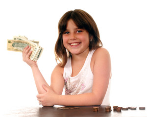 Happy with Her Money