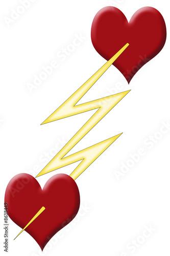 Coeur coup de foudre photo libre de droits sur la banque d 39 images image 8638449 - Coup de foudre sur internet ...