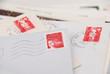 Leinwanddruck Bild - timbres postaux