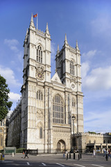 Westminster Abbey Front Facade and Towers