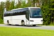 Leinwanddruck Bild - blank tour bus