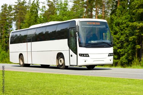 Leinwanddruck Bild blank tour bus