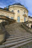 Treppe auf Schloss Solitude poster