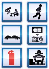 Panneaux de signalisation des services (détouré)