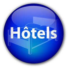 """Hotels"" button (French)"