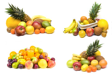 Different fruit sets isolated