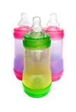 BPA-free multicolor baby bottles for infant formula poster