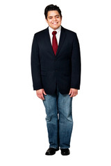 Happy Business Man Isolated Full Body